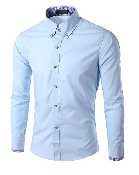 Koszula męska , SUPER MODNA błękitna r.42