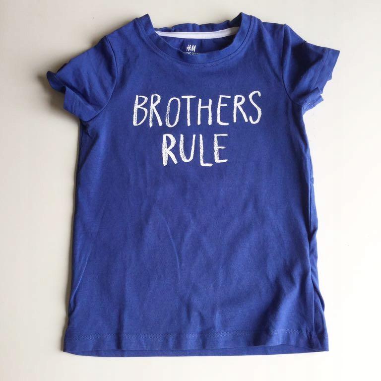 H&M koszulka tshirt brat brother 3/4