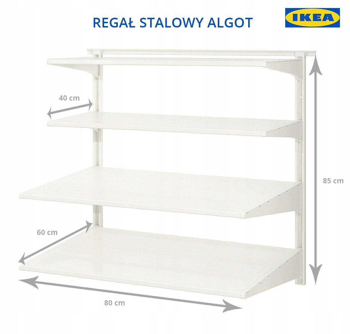 Regał Metalowy Półki Wiszące Ikea Algot Szczecin