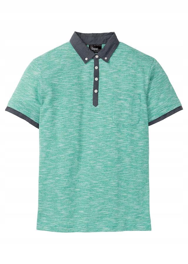 Shirt polo z kołnierzyki zielony 44/46 (S) 975678