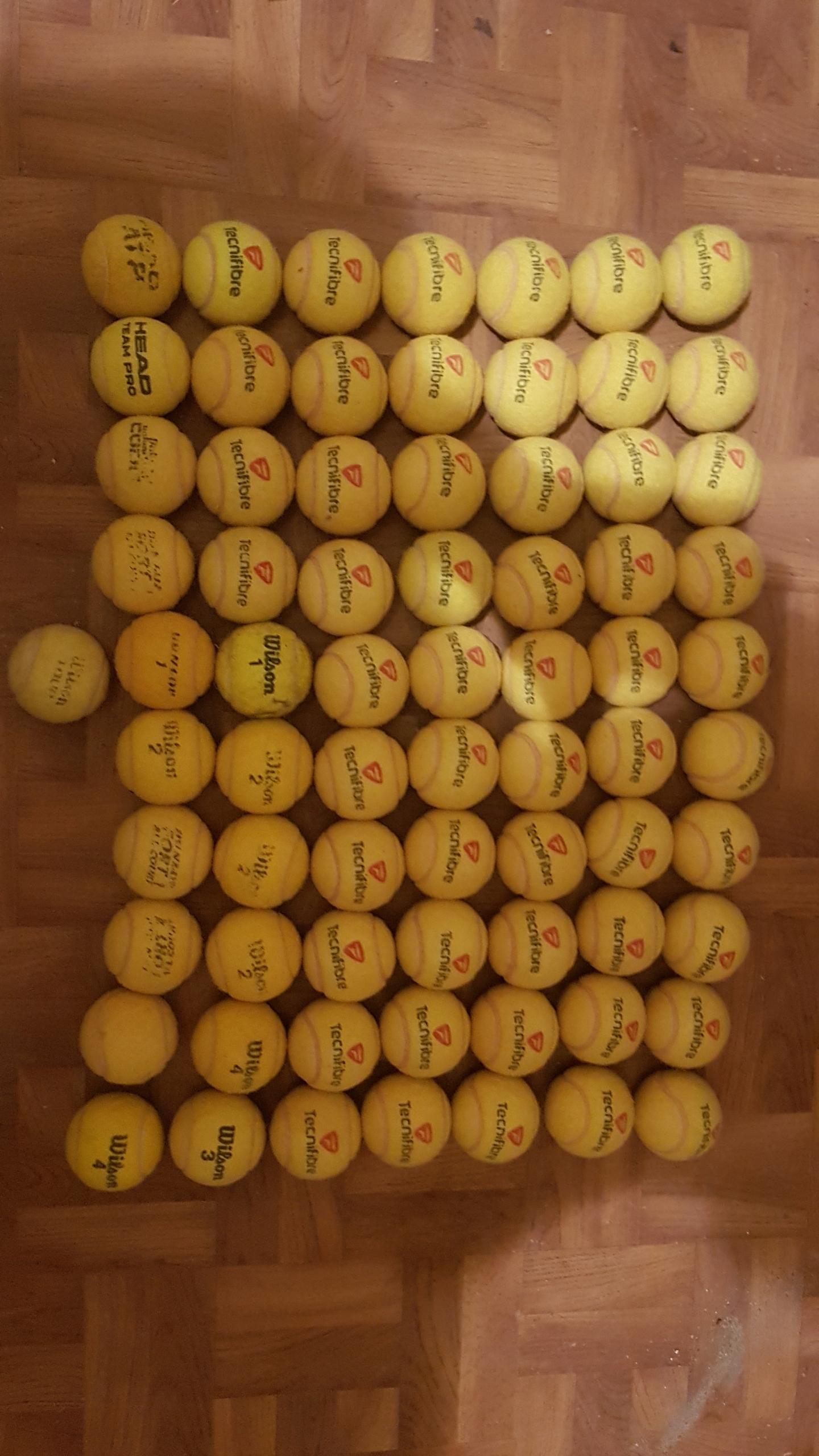 piłki tenisowe używane tecnifibre dunlop wilson 71