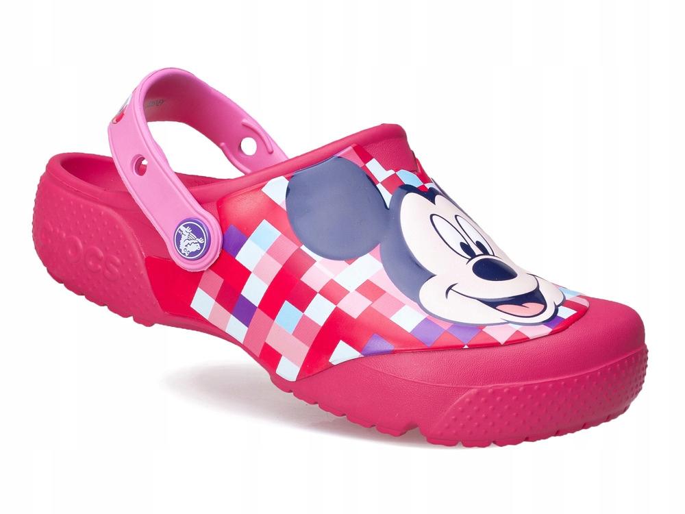 buty dziecięce gumowe Crocs Myszka Mickey różowe