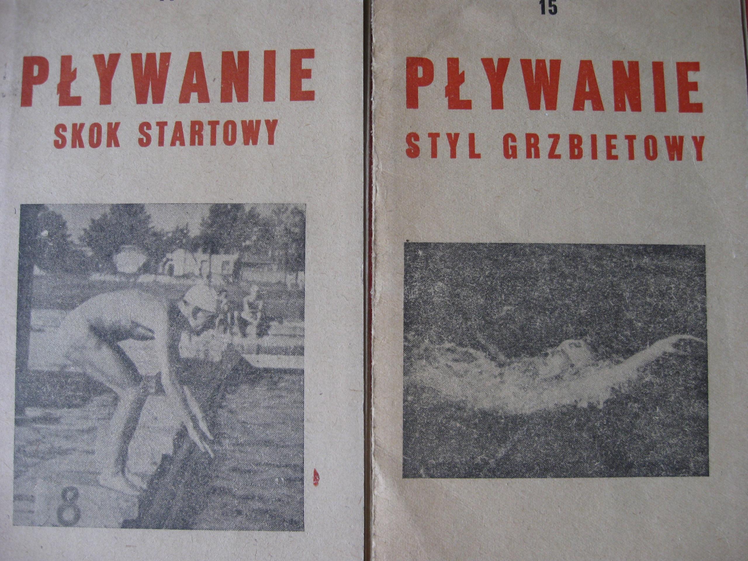 PŁYWANIE styl GRZBIETOWY i SKOK w obrazach 1951