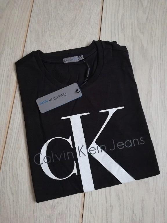 Czarna koszulka T-shirt Calvin Klein XL