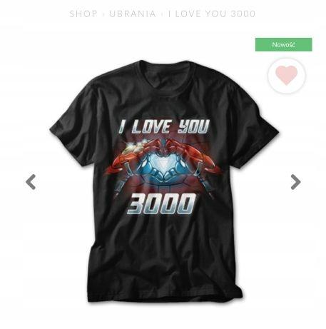 Koszulka Marvel Iron Man Avengers i love you 3000