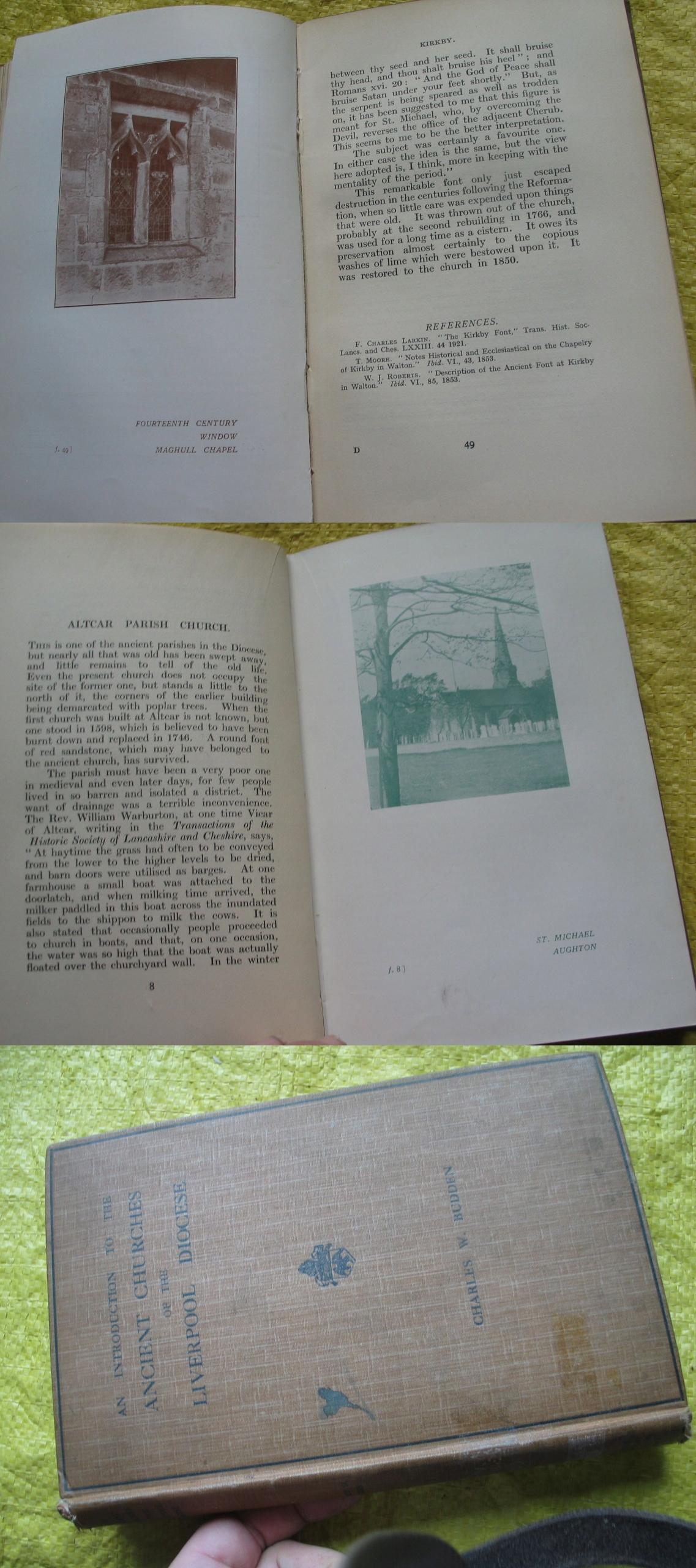 DAWNE KOŚCIOŁY DIECEZJI LIVERPOOL ilustracje 1929