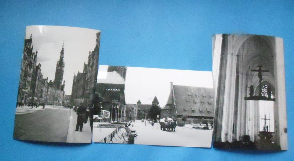 Gdańsk-3 stare zdjęcia -lata 60-te.Zestaw