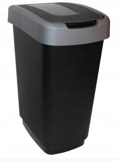 POJEMNIK NA ODPADY KLIP 25L SZARY Kosz na śmieci