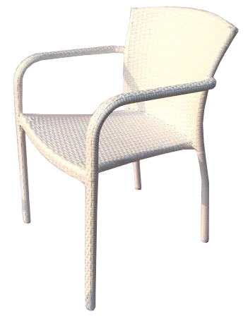 Technorattan Krzesło Białe Fotel Ogrodowy Vinotti
