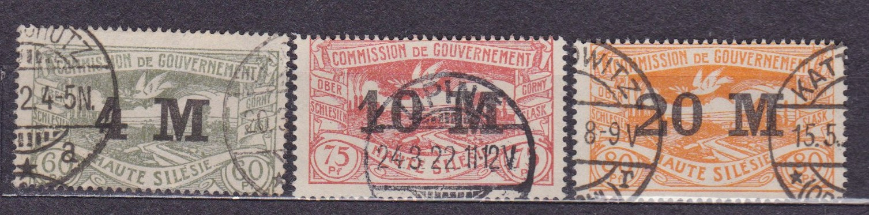 Plebiscyty - 1922, Górny Śląsk, Fi 41 - 43, kasowa