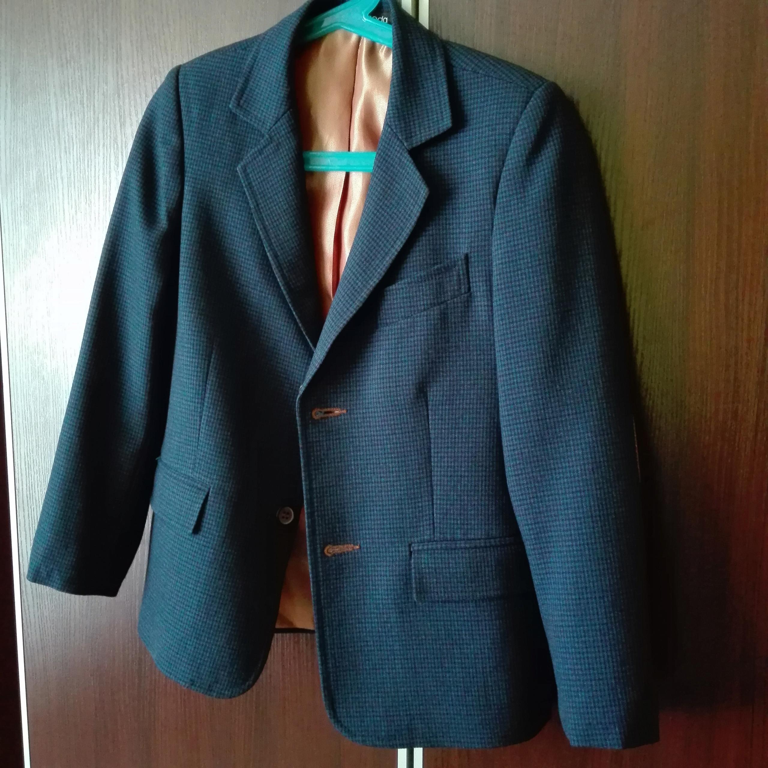 JANKES 116/122 marynarka dla chłopaka ŁATY modna