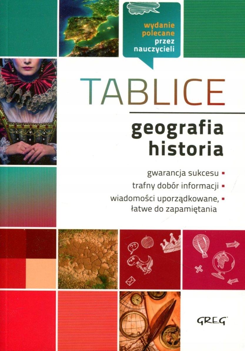 TABLICE GEOGRAFIA, HISTORIA WYD. GREG*