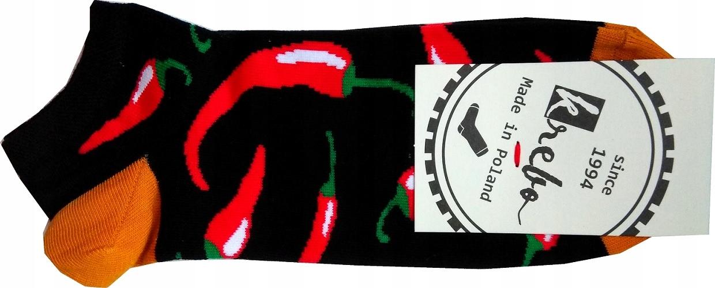 Kolorowe Stopki wesołe Krebo chili męskie 39-42
