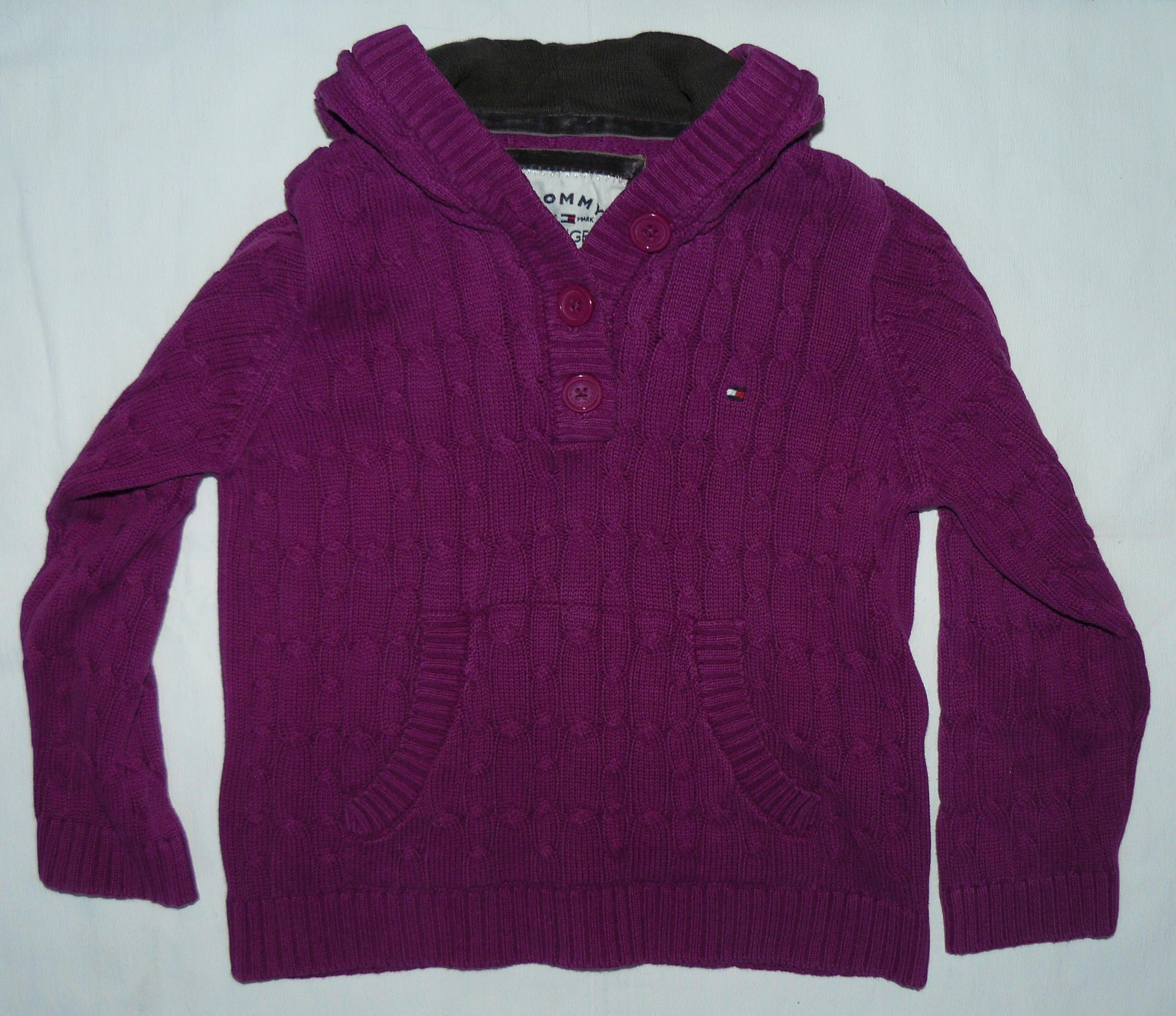 Sweterek słodki TOMMY HILFIGER 98 / 2-3 lat * ZIMA
