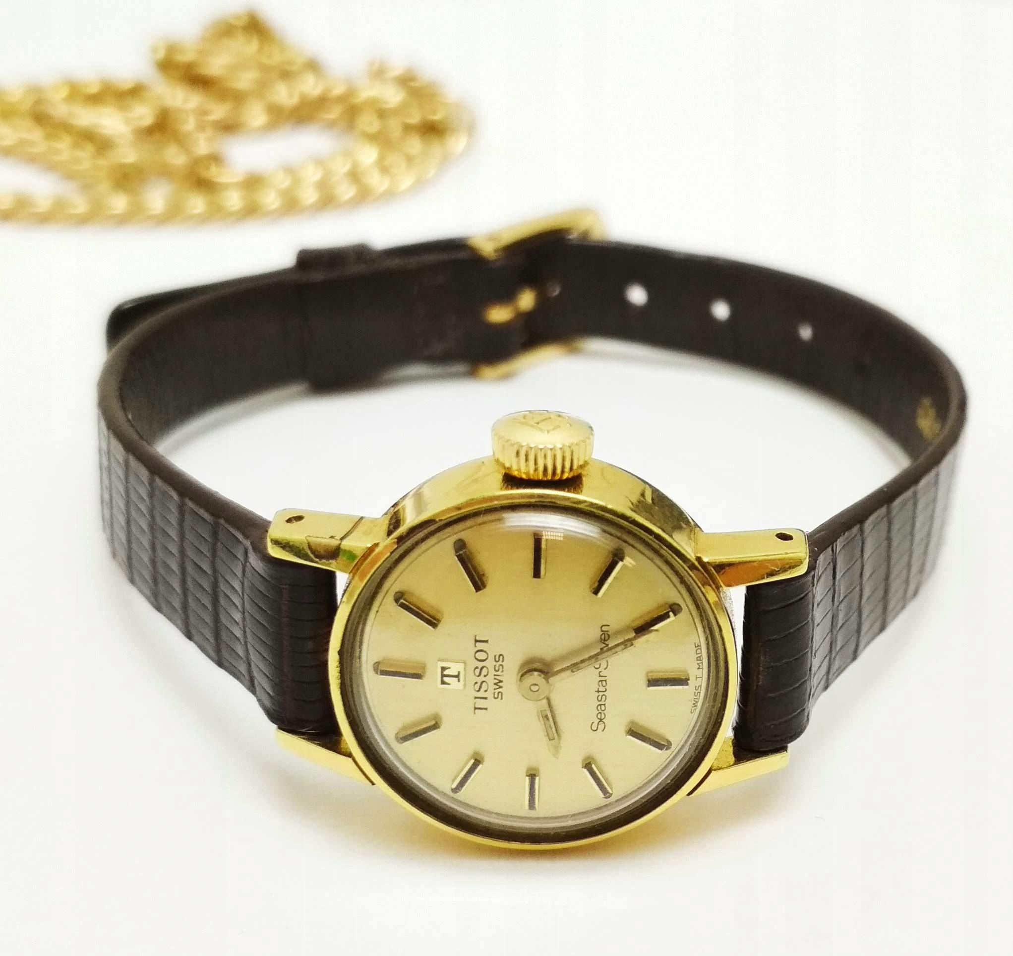Zegarek TISSOT Seastar Seven Damski POZŁACANY