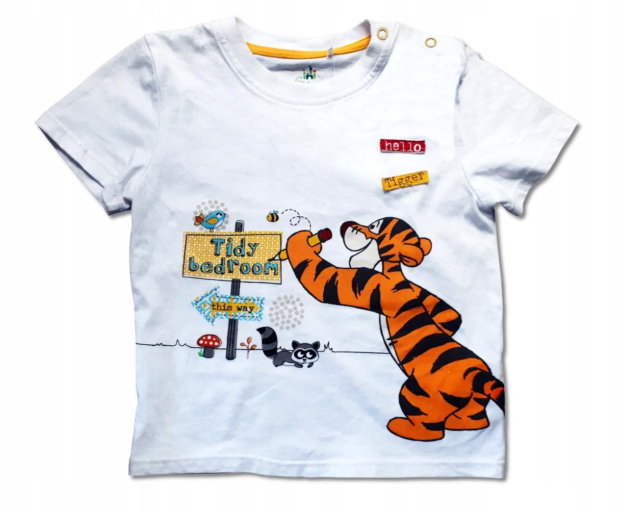 BLUZKA T-SHIRT Disney Tygrysek 86 12m+