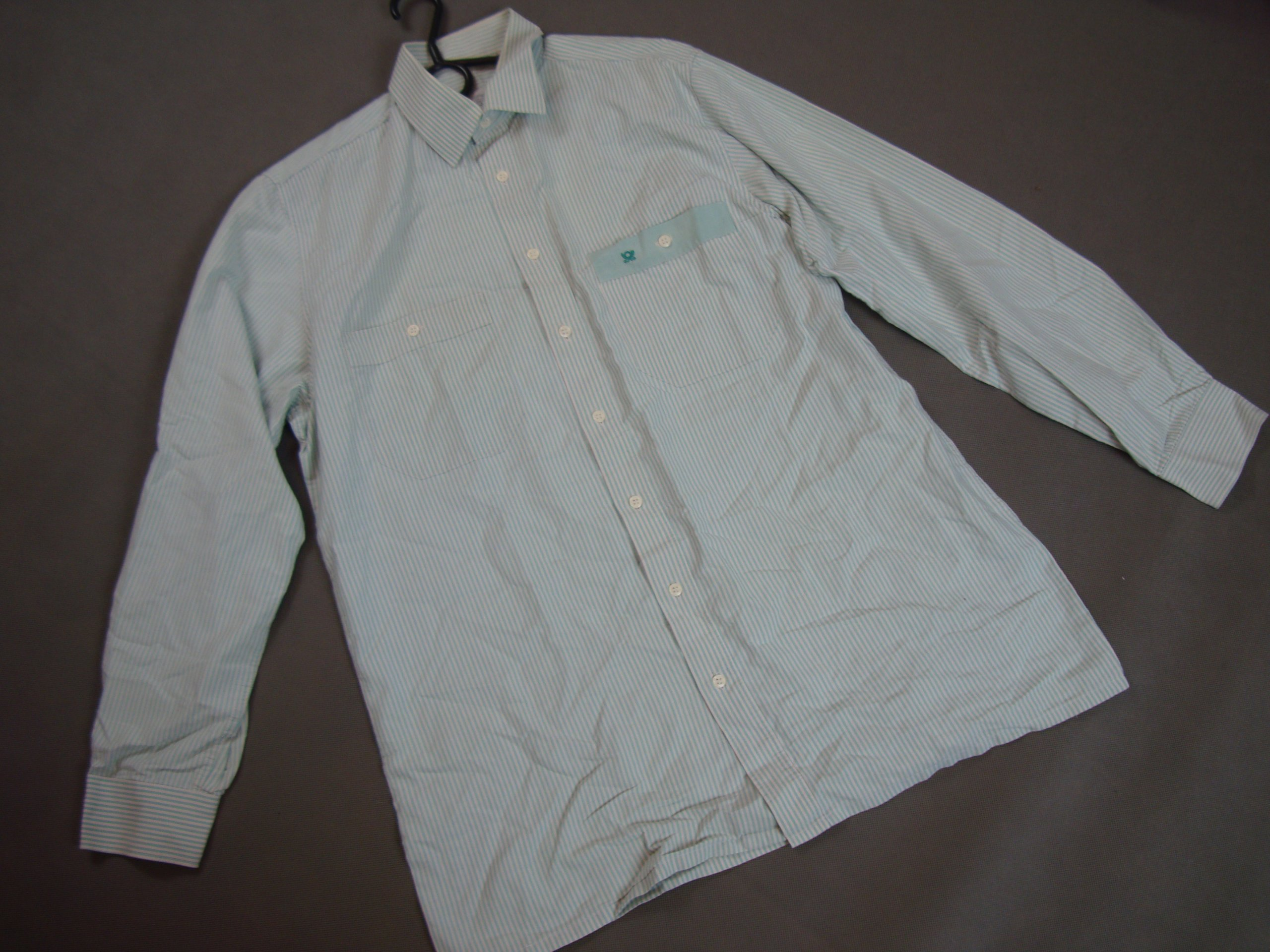 BIAŁO ZIELONA koszula LINCRON SHIRT r.L/XL