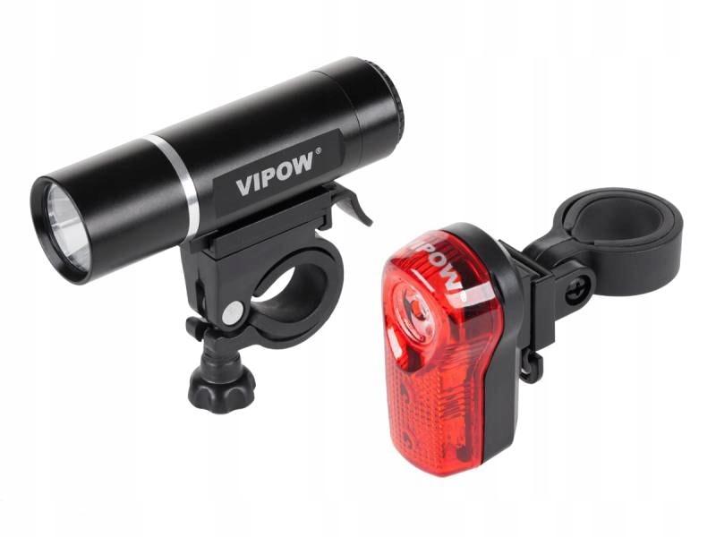 Lampki rowerowe LED 3W 80lm przód tył Vipow