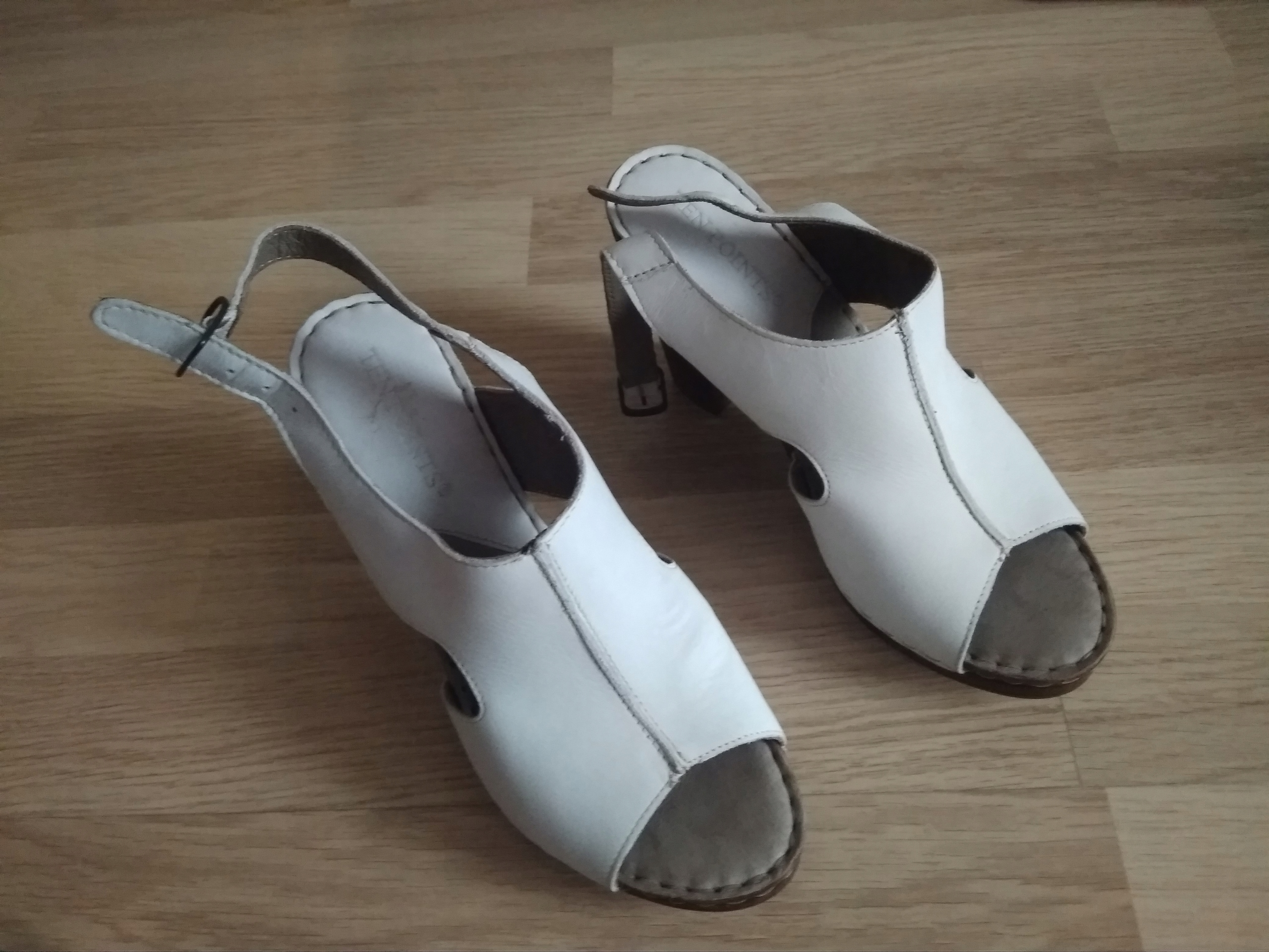 Super wygodne sandały skórzane 40 super stan