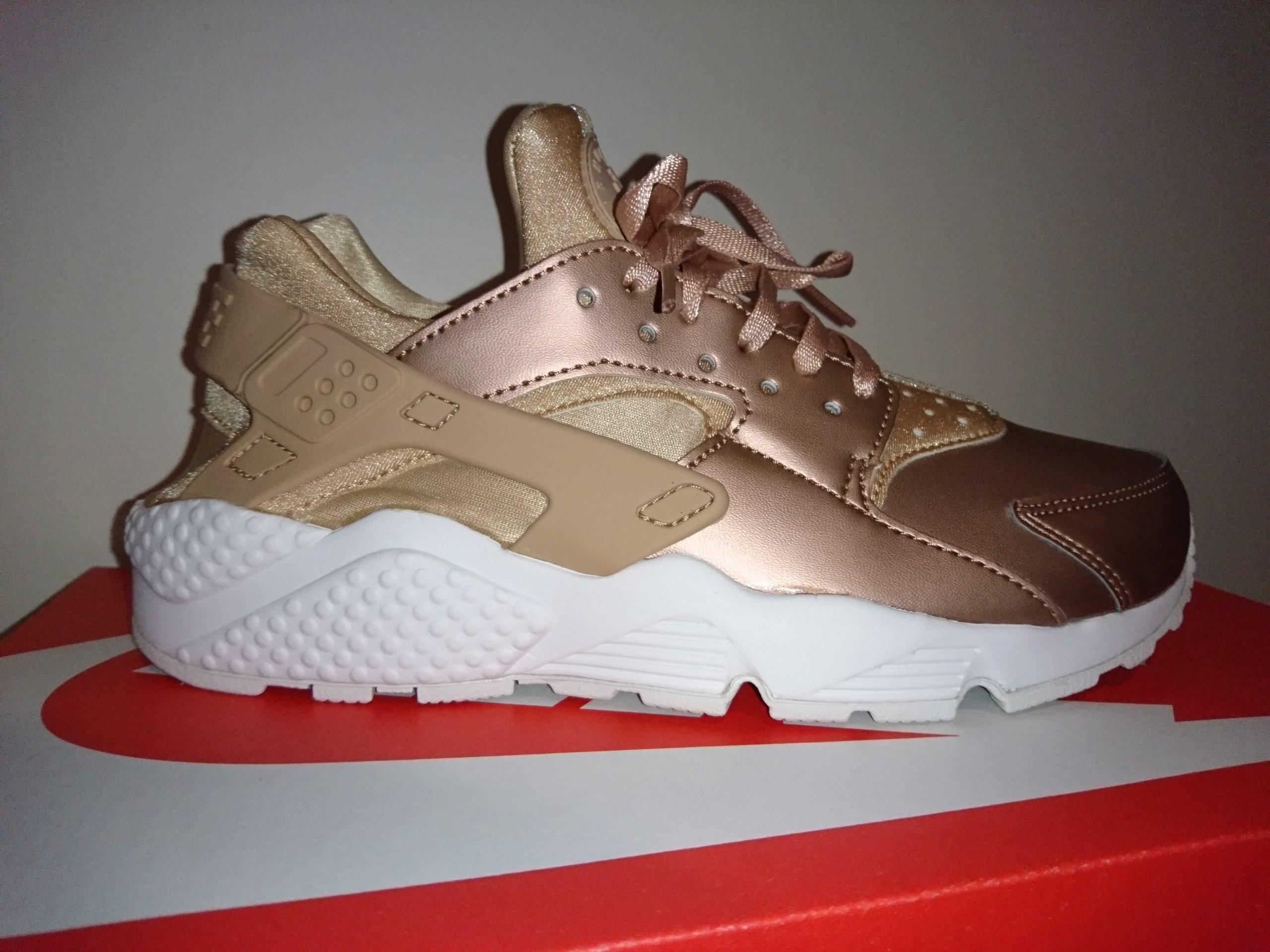Nike air huarache różowe złoto róż 38