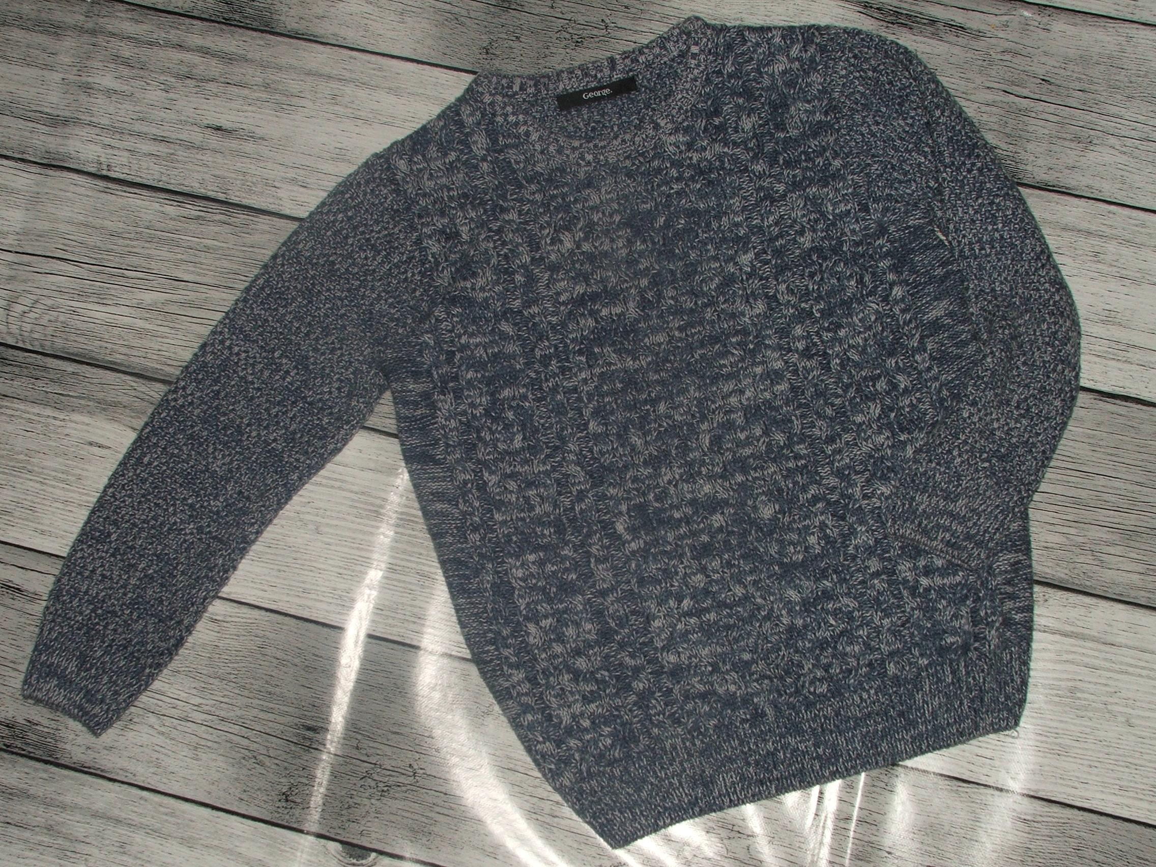 Sweterek bawełniany chłopięcy 122 cm GEORGE_4311