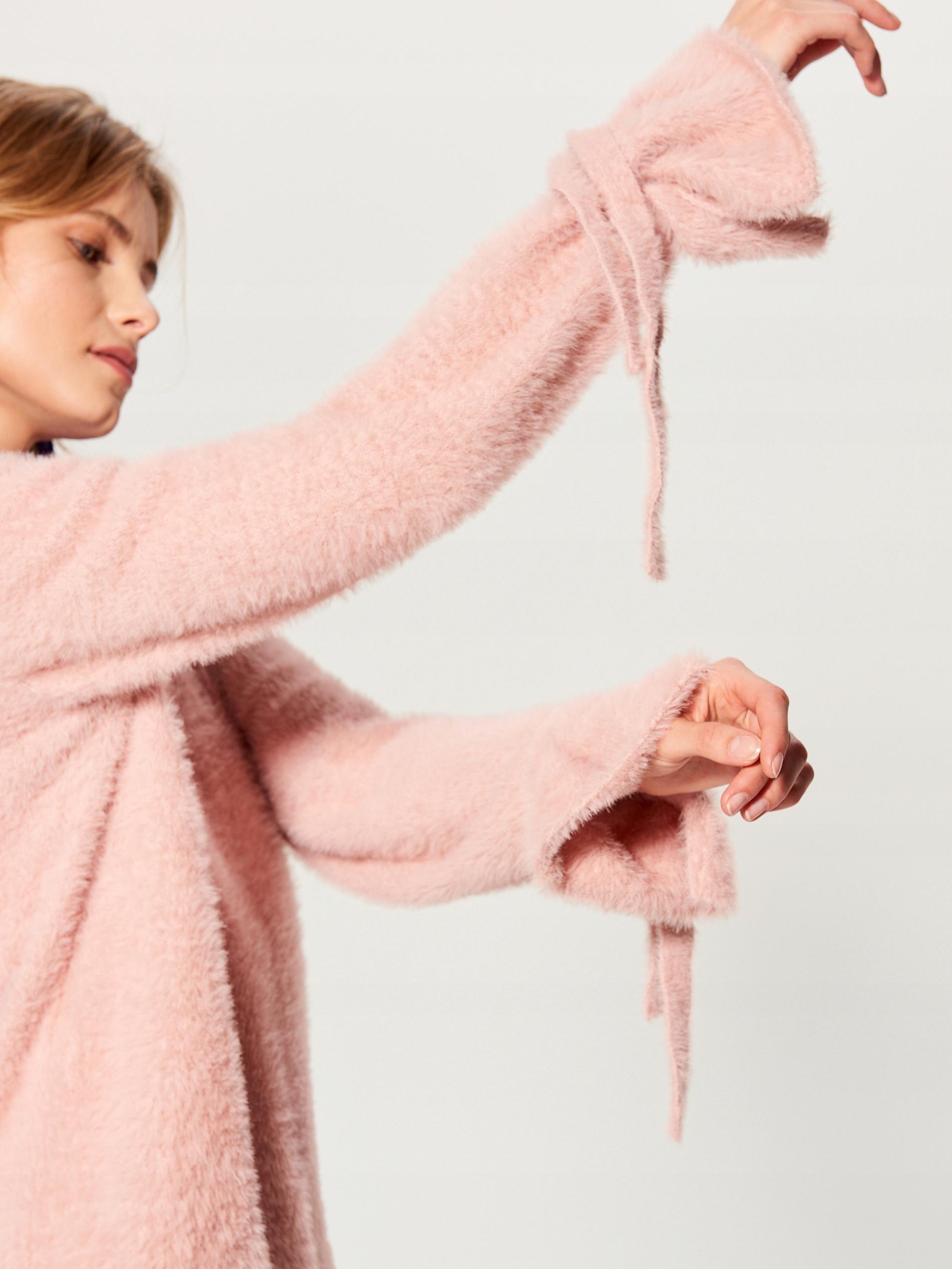 MOHITO sweter z wiązaniami na rękawach M