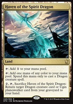 3 x Haven of the Spirit Dragon Dragons of Tarkir