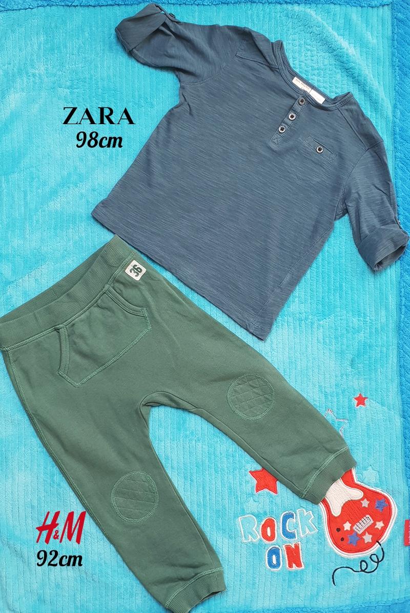 Komplet chłopięcy spodnie bluza Zara H&M 92 98