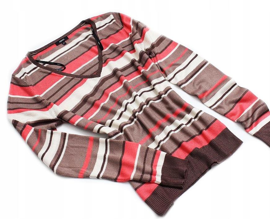 PAPAYA KLASYCZNY Sweter Paski PASECZKI 42/44/XL