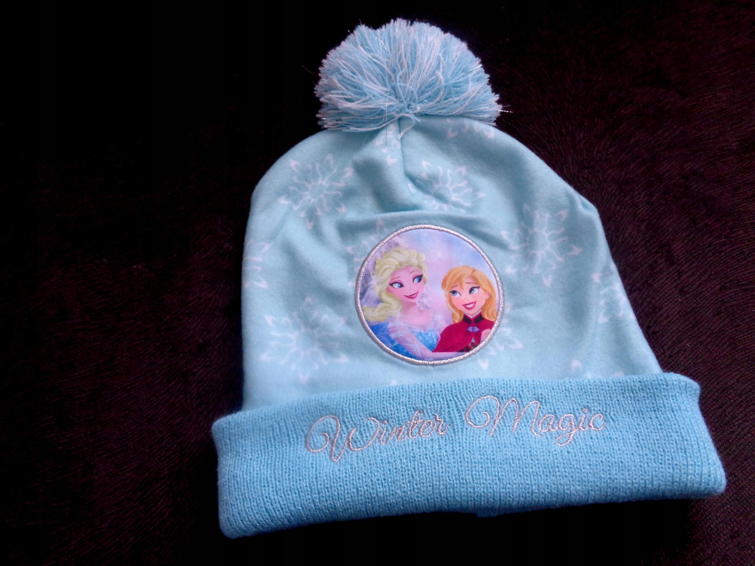 NOWA czapka zimowa Kraina Lodu Disney rozm. 52