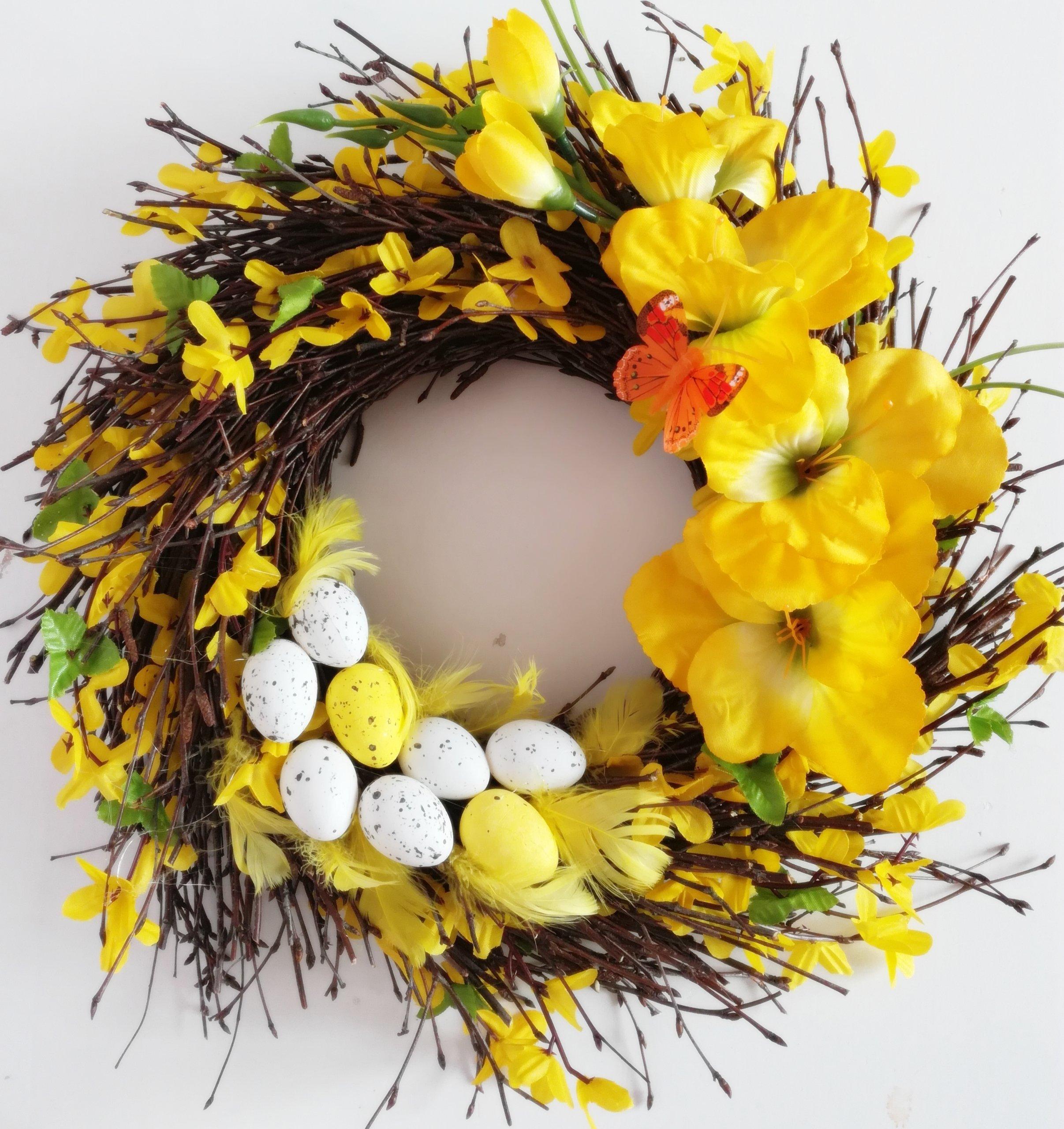 Wianek Wielkanocny Wianki Wielkanocne Stroik 30cm 7210786240