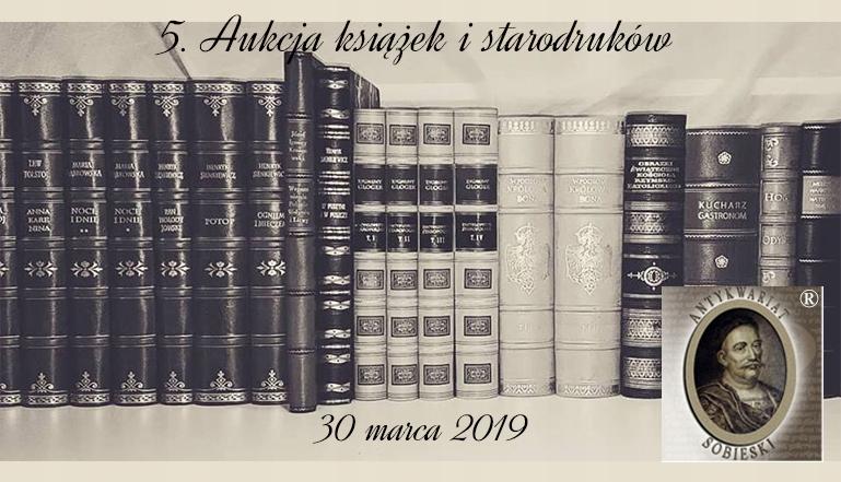 ANTYKWARIAT SOBIESKI - Katalog 5. Aukcji książek