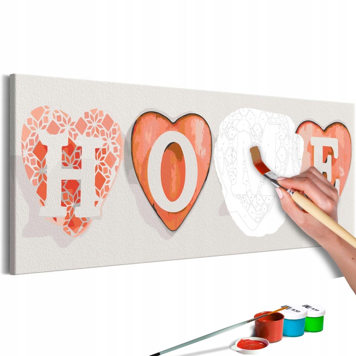Obraz do samodzielnego malowania - Cztery serca (R