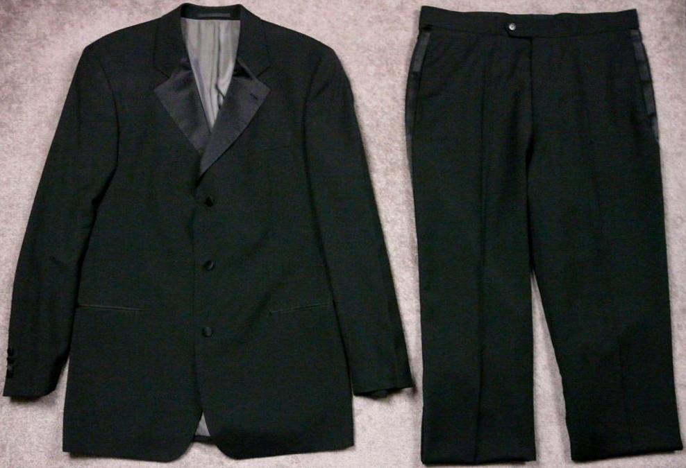 HUGO BOSS czarny garnitur - 53 54 XL na wysokiego