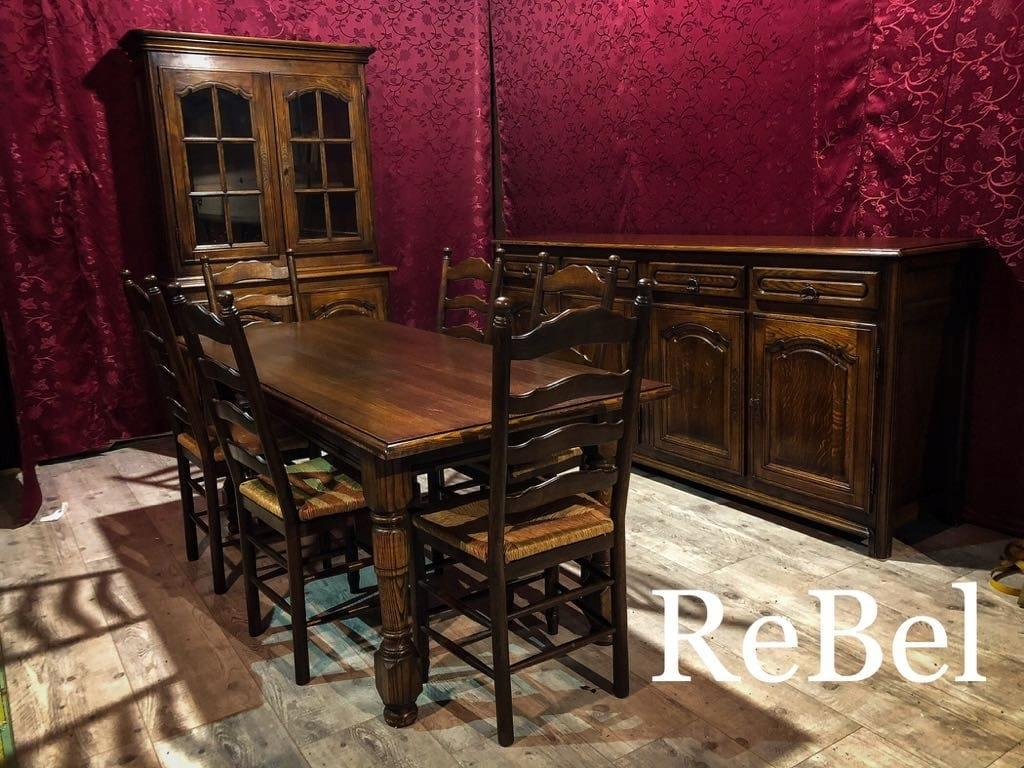 Ms - Stylowy masywny Stół + 6 krzeseł!!!