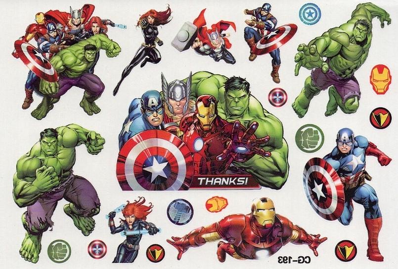 Avengers Tatuaże Zmywalne Dla Dzieci Marvel Hulk
