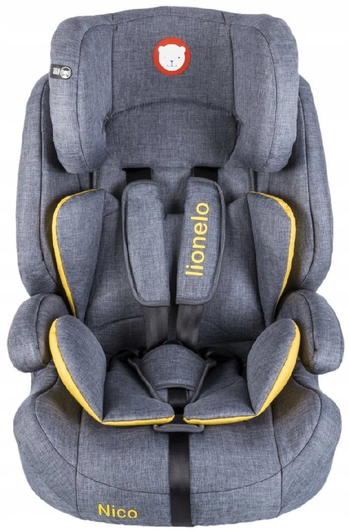 LIONELO Fotelik 9-36 kg Nico yellow