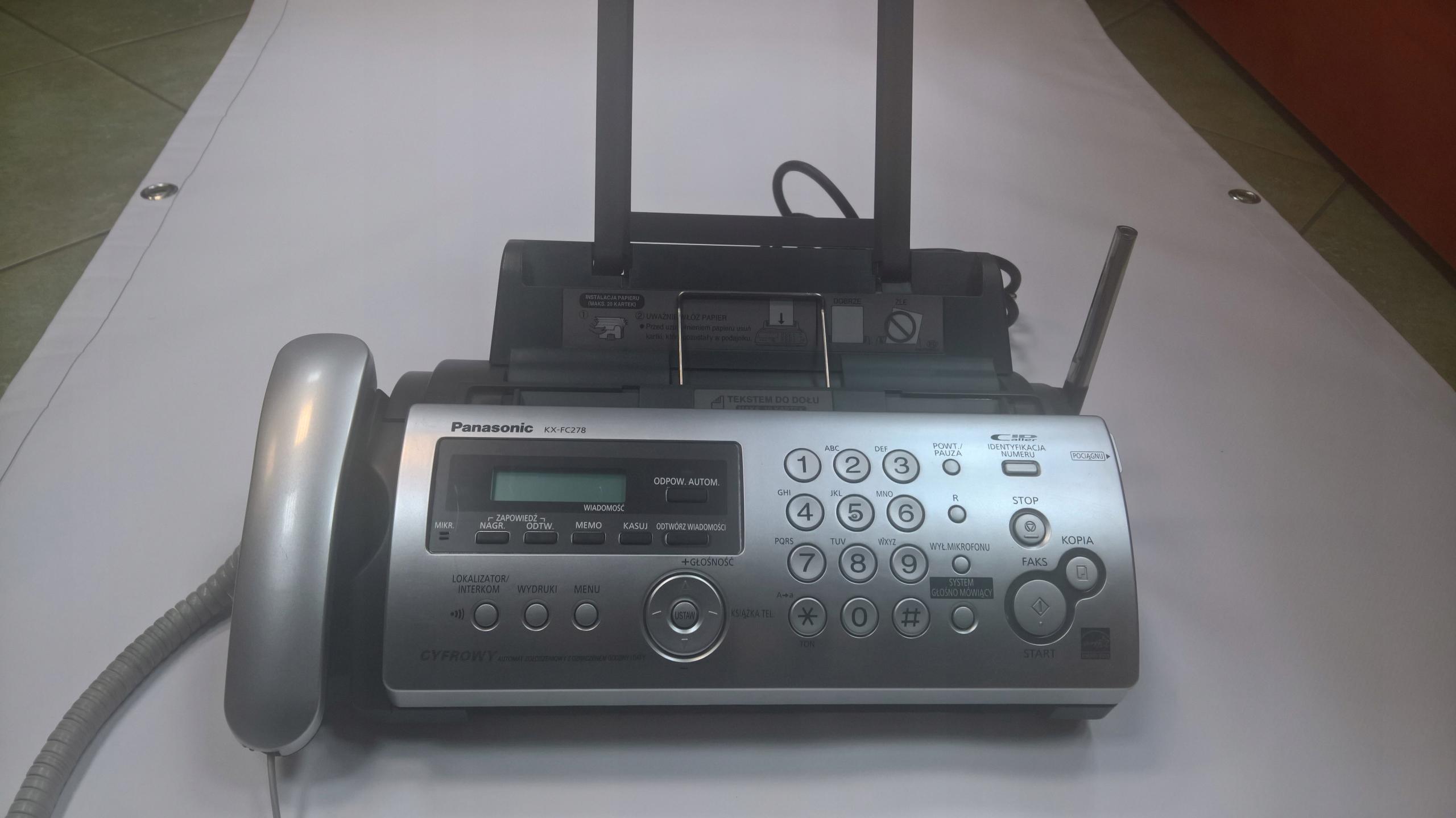 Fax Panasonic KX-FC278
