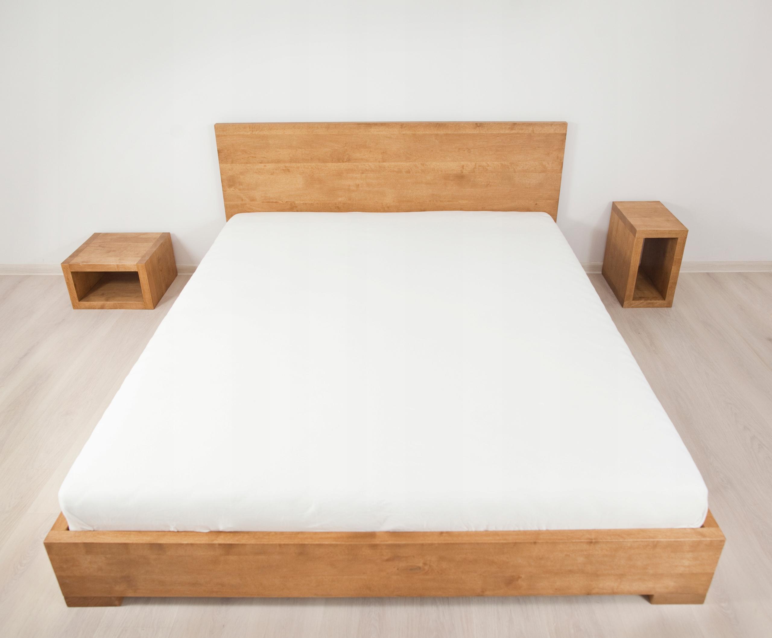 łóżko Polo 200x220 Proste Wezgłowie Piękne Drewno