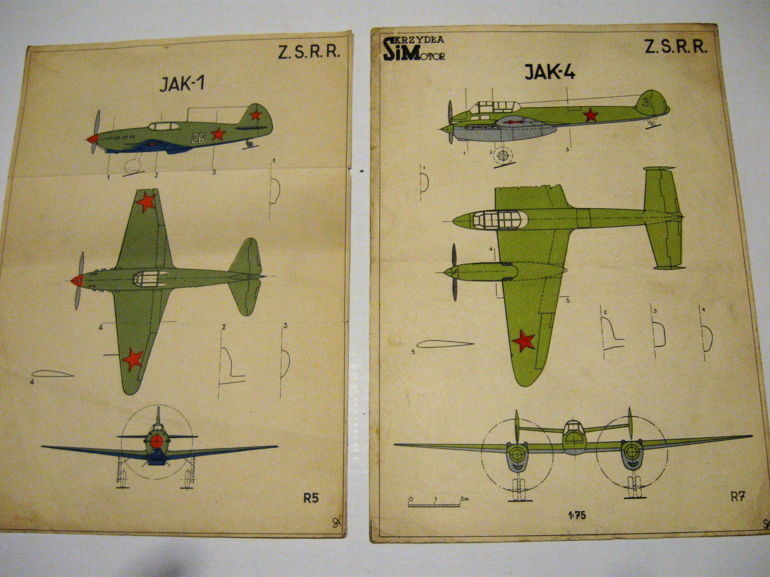 Plany modeli redukcyjnych samolotów