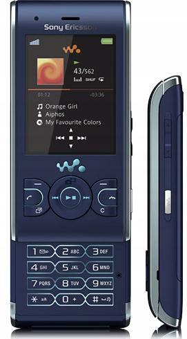 ORYGINALNY Sony Ericsson W595 RETRO KLASYK NIEBIES