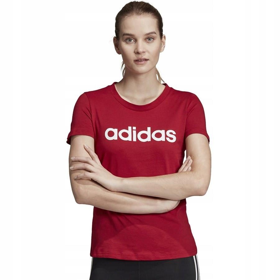 Koszulka adidas W E LIN Slim Tee EI0697 CZERWONY L