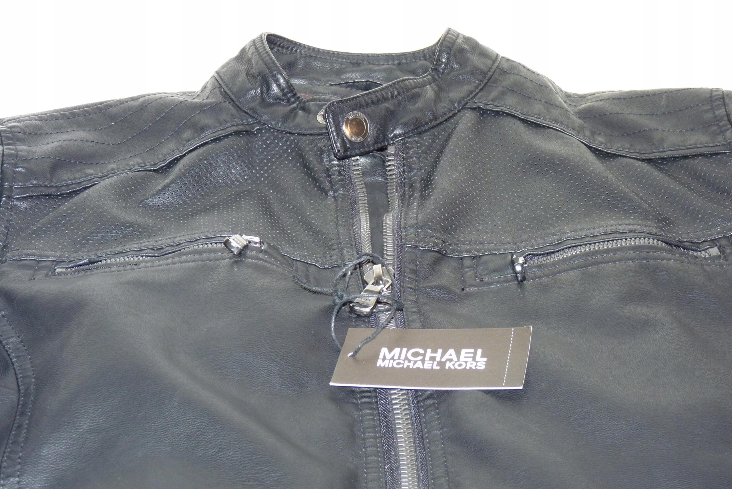 Kurtka Michael Kors Faux Leather Moto Jacket -60%