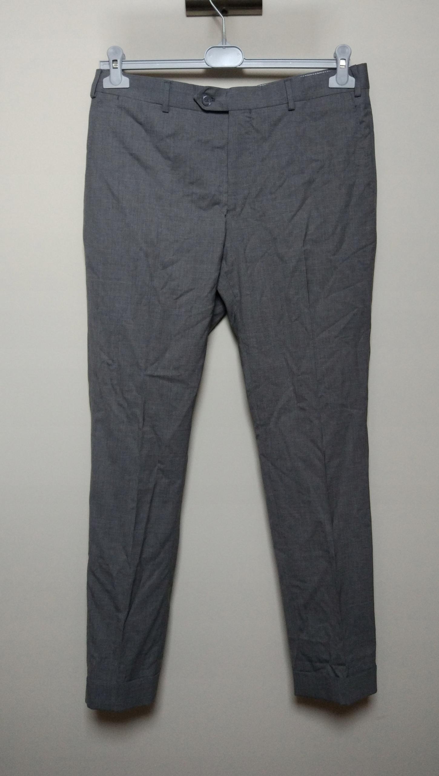 MASSIMO DUTTI szare spodnie na kant mankiet 40