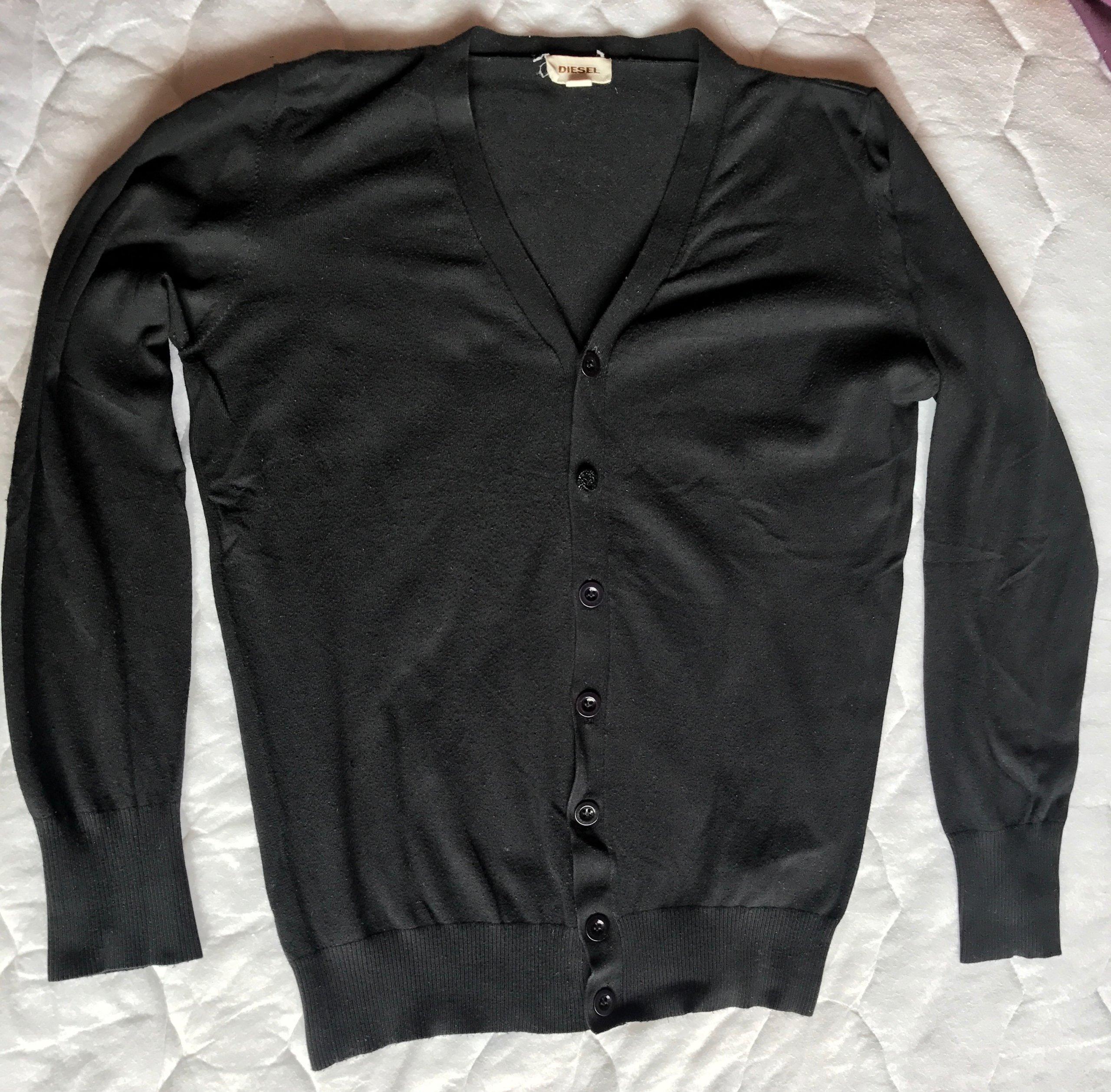 Sweter kardigan DIESEL L z Włoch elastan -35%!