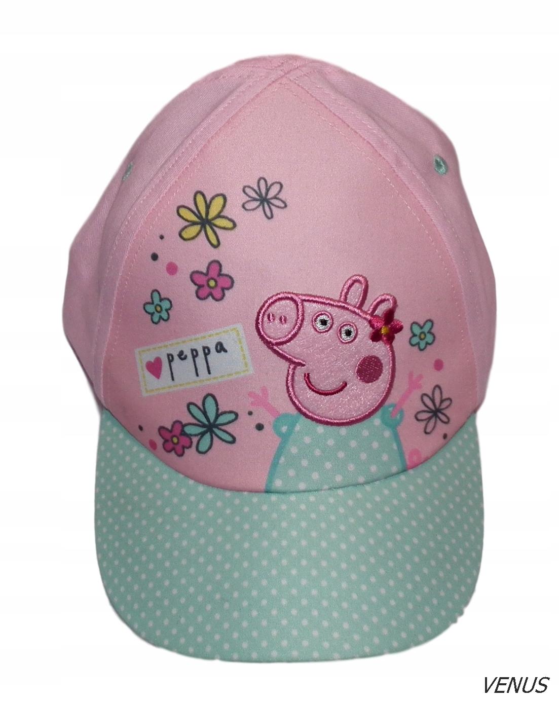 ŚWINKA PEPPA NOWA czapka z daszkiem roz 104-116 cm