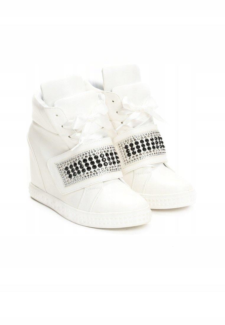 Sneakersy na koturnie BOTKI VICES r. 41 białe