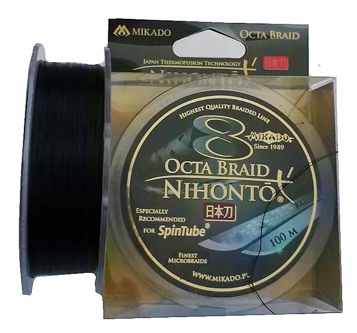 plecionka Mikado Nihonto Octa 0.08mm 5,15kg CZARNA