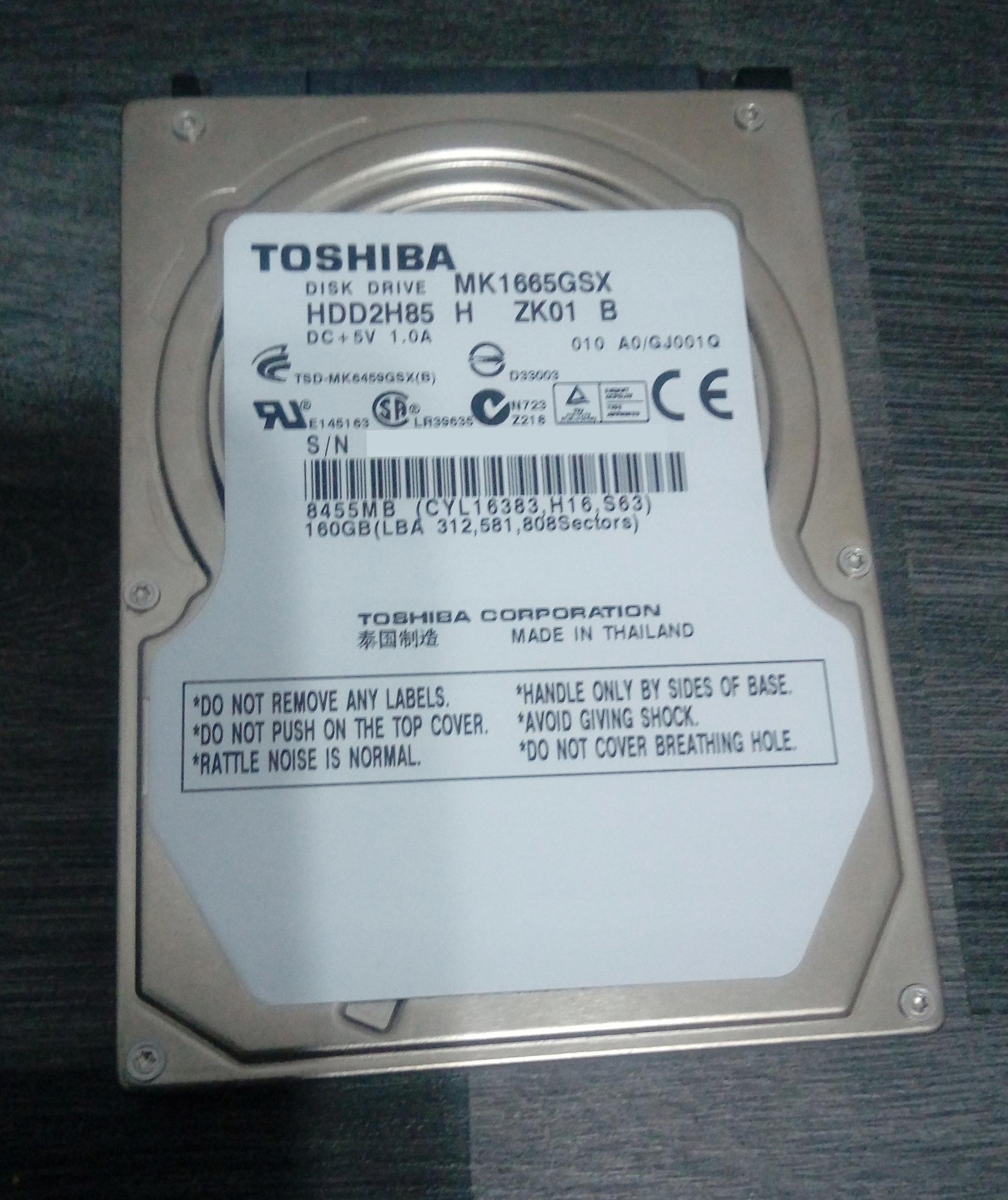 Dysk twardy Toshiba MK1665GSX