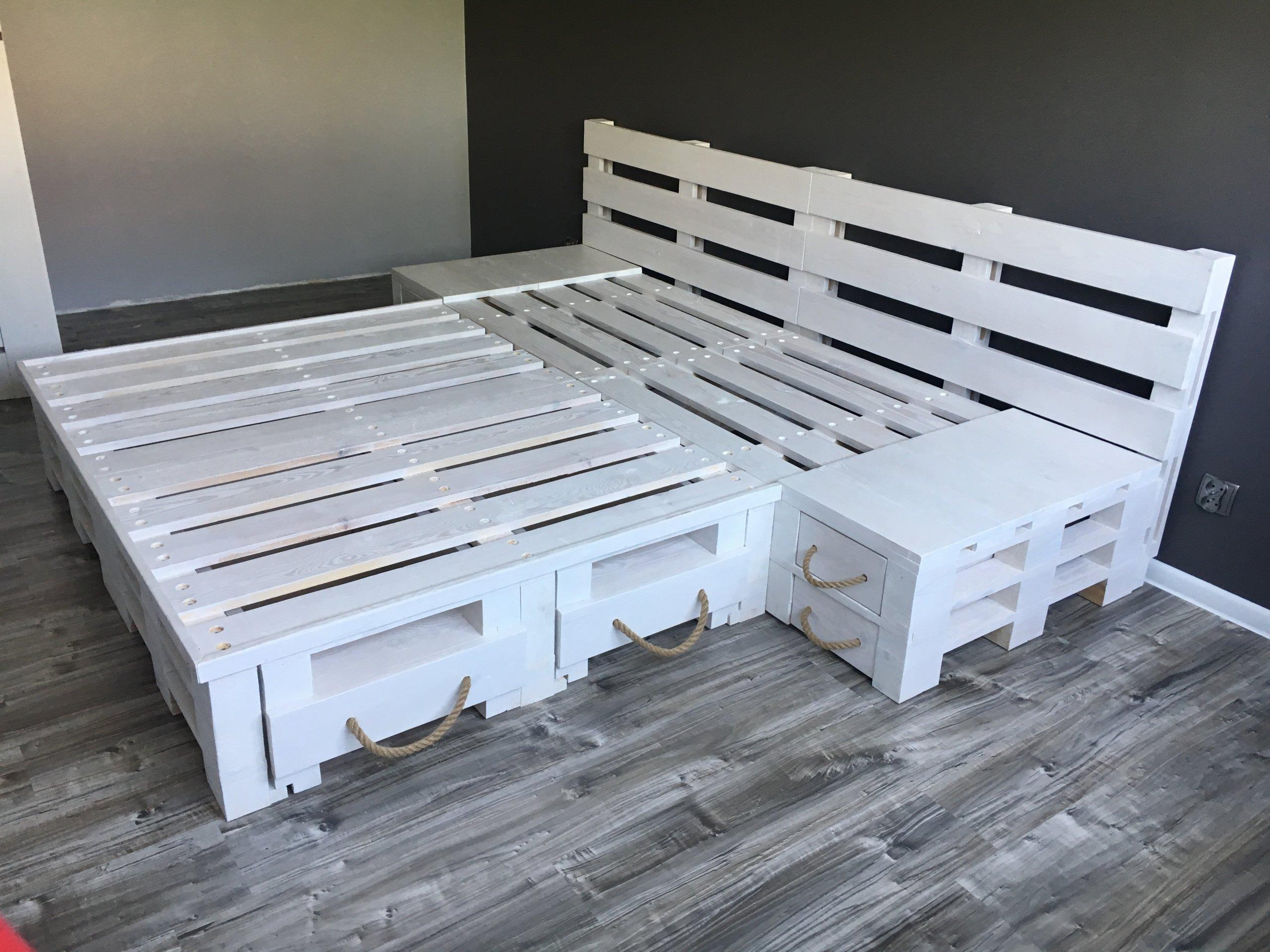łóżko Z Palet 200x160 Certyfikat Fsc 7554872274